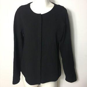 Eileen Fisher Button Down Blazer  Black Medium